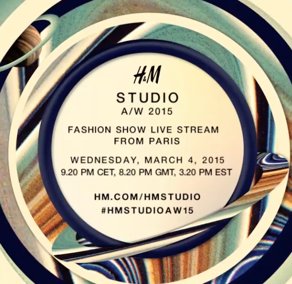 h&m studio, paris fashion week