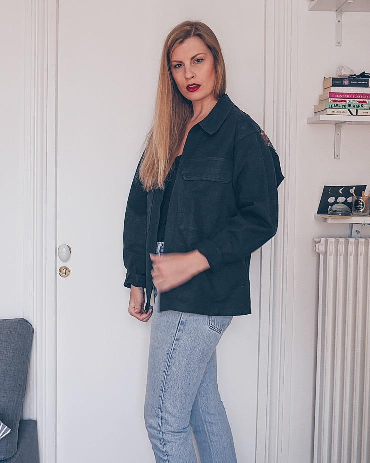 Army jacket upcycled